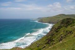 Linia brzegowa przy kawy zatoką, Wschodni przylądek, Południowa Afryka Obraz Royalty Free