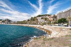 Linia brzegowa przy Malaga Obrazy Royalty Free