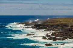 Linia brzegowa przy Punta De Teno, Tenerife obrazy royalty free