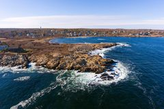 Linia brzegowa przylądek Ann, Massachusetts obrazy stock
