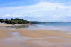 Linia brzegowa, Saundersfoot, południowe walie, UK Obrazy Royalty Free