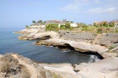 linia brzegowa skalisty Spain Tenerife obraz stock