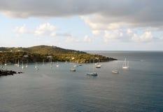 Linia brzegowa St Thomas, USA Dziewicze wyspy Obrazy Royalty Free