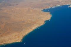 Linia brzegowa Synaj, Czerwony morze Zdjęcie Royalty Free
