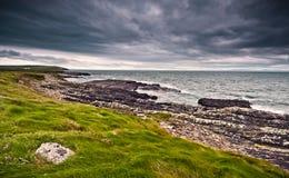 Linia brzegowa w Irlandia zdjęcia royalty free