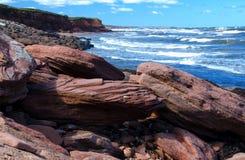 Linia brzegowa, wschodni Kanada zdjęcia royalty free