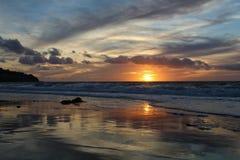 Linia brzegowa zmierzchu odbicia, Torrance stanu plaża, Los Angeles okręg administracyjny, Kalifornia zdjęcia stock