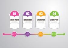 Linia czasu Infographic Fotografia Stock