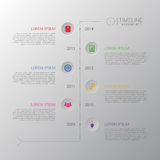 Linia czasu Infographic Biznesowy szablon z ikoną wektor royalty ilustracja