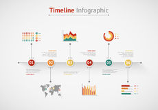 Linia czasu Infographic mapa ilustracyjny stary świat Zdjęcia Stock