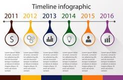 Linia czasu infographic szablon Zdjęcie Royalty Free