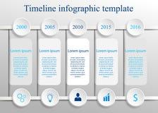 Linia czasu infographic szablon Fotografia Royalty Free