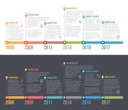 Linia czasu Infographics ilustracja wektor
