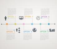 Linia czasu, infographics szablon z stepwise stru Zdjęcia Royalty Free