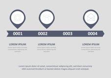 Linia czasu projekta infographic wektor i marketingowe ikony możemy używać dla obieg układu, diagram, sprawozdanie roczne wektor ilustracja wektor
