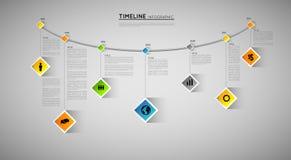 Linia czasu szablon ilustracji