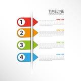 Linia czasu szablon Obrazy Royalty Free
