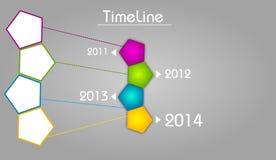 Linia czasu szablon dla kopyto_szewski cztery roku Obraz Royalty Free