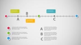 Linia czasu szablonu infographic biznesowy wektor royalty ilustracja