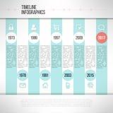 Linia czasu szablonu infographic robić w nowożytnym mieszkaniu Obraz Royalty Free