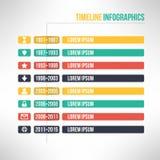 Linia czasu szablonu infographic stosowny dla Fotografia Royalty Free
