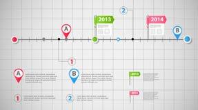 Linia czasu szablonu wektoru infographic biznesowa ilustracja royalty ilustracja