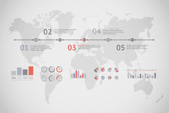 Linia czasu wektor infographic mapa ilustracyjny stary świat Fotografia Royalty Free