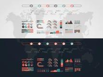 Linia czasu wektor infographic mapa ilustracyjny stary ?wiat royalty ilustracja