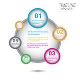 Linia czasu wystawiać twój dane z Infographic elementami Obraz Royalty Free