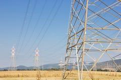 Linia energetyczna góruje Zdjęcie Royalty Free