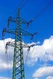 Linia energetyczna maszt Fotografia Royalty Free