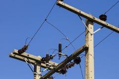 Linia energetyczna na niebieskim niebie Obraz Stock