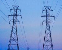 Linia energetyczna przekaz góruje Obraz Stock