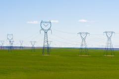 linia energetyczna wysoki woltaż Zdjęcie Stock