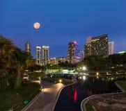Linia horyzontu Środkowa dzielnica biznesu Kuala Lumpur Zdjęcie Stock