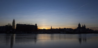 Linia horyzontu Amsterdam Zdjęcie Royalty Free