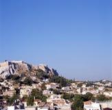 Linia horyzontu Ateny z akropolem obraz stock