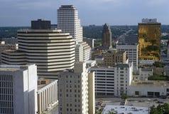 Linia horyzontu Austin, TX, stanu capitol przy zmierzchem Fotografia Royalty Free