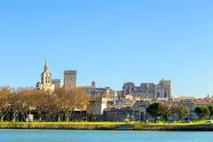 Linia horyzontu Avignon z gothic budynkiem popes pałac Obraz Stock