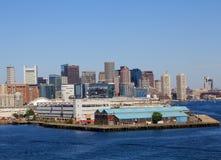 linia horyzontu bostonu schronienia Zdjęcia Stock