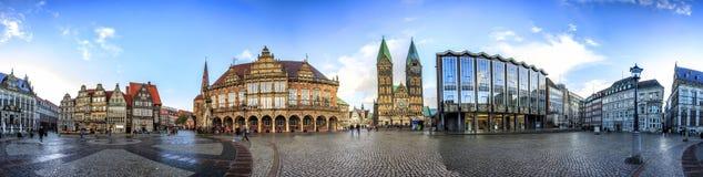 Linia horyzontu Bremen główny targowy kwadrat, Niemcy Obraz Royalty Free