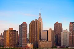 Linia horyzontu budynki przy Murray wzgórzem w Manhattan przy Miasto Nowy Jork Zdjęcie Stock