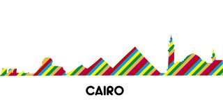 Linia horyzontu Cairo royalty ilustracja