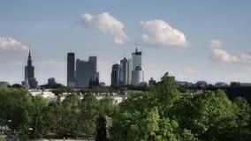 Linia horyzontu centrum Warszawa zdjęcie stock