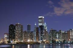 linia horyzontu chicago nocy Obrazy Stock