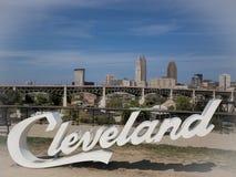Linia horyzontu Cleveland, Ohio fotografia stock