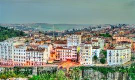 Linia horyzontu Constantine przy zmierzchem Algieria Obrazy Royalty Free