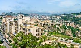 Linia horyzontu Constantine, ważny miasto w Algieria Obraz Stock
