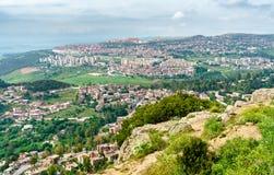 Linia horyzontu Constantine, ważny miasto w Algieria Fotografia Stock