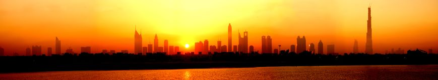 Linia horyzontu Dubaj Zdjęcia Stock